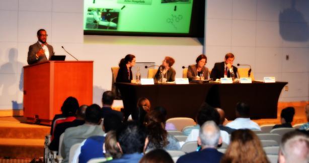 Photograph -- panelists at the regional synthetic drugs symposium