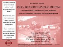 CJCC 2018 Spring Public Meeting